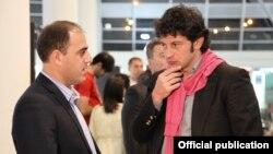 Gürcüstanın energetika naziri Kaxa Kaladze (sağ), Tbilisi, 23 iyun 2016