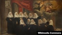 Ян ван Гельмант, «Партрэт манашак-аўгустыянак чорнага канону ў Антвэрпэне».