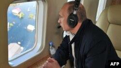 Президент Росії оглядає зону стихійного лиха, Амурська область, 29 серпня 2013 року