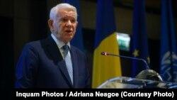 Ministrul român de externe Teodor Meleșcanu la întîlnirea anuală cu diplomații români, Bucurerști, 27 august 2018