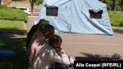 Moldova - corturille simpatizanților PD, care protestează împotriva noului guvern, 10 iunie 2019