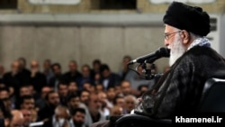 Iranian Supreme Leader Ali Khamenei, during a speech on Sunday June 18, 2017.