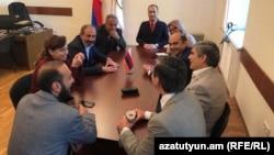 ԱԺ «Ելք» խմբակցության նիստը, Երևան, 30-ը ապրիլի, 2018թ․