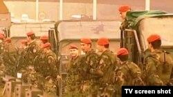 Pobuna Crvenih beretki 2001. godine na autoputu u Beogradu, arhivska fotografija