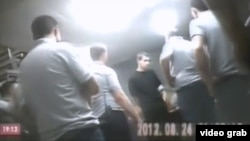 "A still from one of the videos apparently showing the abuse of inmates -- Vladimer Bedukadze says he filmed the videos ""for one year or more, in 2011 and 2012."""