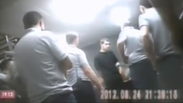 Screen grab from Georgian prison torture video