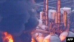 Пажар на электрастанцыі ў Ісхіхіра. 11 сакавіка 2011 г.