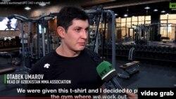 Отабек Умаров отвечает на вопросы журналиста Russia Today.