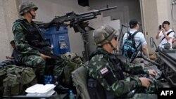 Թայլանդ - Զինվորականները մայրաքաղաք Բանգկոկում, 20-ը մայիսի, 2014թ․
