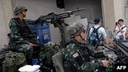 Тайские военные в Бангкоке.