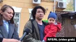 Олга и Дмитрий Проказови с тяхното дете
