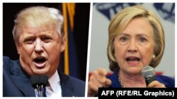 Favoriti republikan, Donald Trump, dhe favoritja demokrate, Hillary Clinton.