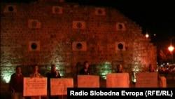 Pamje nga protesta në Maqedoni