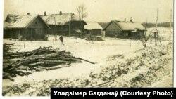 Вёска Барадзіно, зіма 1918-га. Паштоўка нямецкай палявой пошты