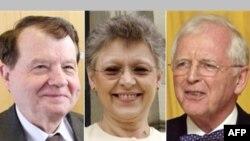 هارالد تسور هاوزن محقق آلمانی، فرانسواز باره – زينوسی و لوک مونتاينه دو پژوهشگر فرانسوی برندگان جایزه نوبل پزشکی شدند. (عکس: AFP)