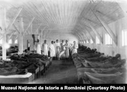 Тифозний шпиталь на теиторії сучасної Молдови. Перша світова війна
