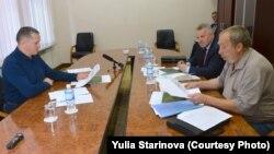 Встреча Владимира Ряполова с Юрием Трутневым и Вячеславом Шпортом