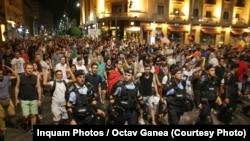 Romania - nou protest antiguvernamental la București, marș pe Calea Victoriei, 12 august 2018