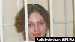 Ганна Сінькова під час судового засідання