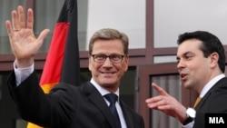 Средба на министрите за надворешни работи на Македонија и Германија Никола Попоски и Гидо Вестервeле.