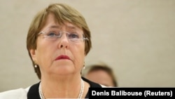 U.N. High Commissioner for Human Rights Michelle Bachelet (file photo)