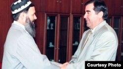 Абдулло Нури менен Эмомали Рахмон. 1997-жыл
