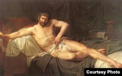 Гийом Гийон-Летьер. Смерть Катона Утического. 1795