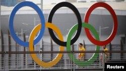 Рио-де-Жанейродаги олимпиада ҳалқалари.