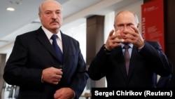 Аляксандар Лукашэнка і Ўладзімер Пуцуін, архіўнае фота
