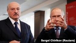 А. Лукашенко и В. Путин в Сочи