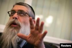 Головний рабин України виступає на конференції в Нью Йорку, 3 березня 2014 року
