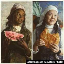 """С. А. Чуйковдун кыл калемине таандык """"Чабандын кызы""""(1948-1956) картинасы."""