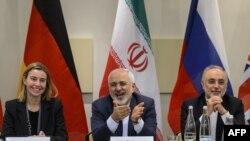 Federica Mogherini, Mohammad Javad Zarif və Ali Akbar Salehi