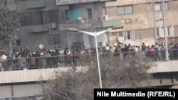 جانب من المظاهرات التي شهدتها القاهرة الجمعة 20 كانون 2013