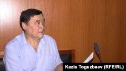 Правозащитник Рамазан Есергепов в зале судебного заседания Алматинского городского суда. Алматы, 18 августа 2016 года.