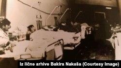 Pacijenti u Vojnoj bolnici za vrijeme rata, fotografija iz lične arhive dr. Bakira Nakaša
