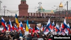 Марш памяти Бориса Немцова в Москве 1 марта 2015 года