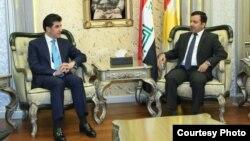 رئيس برلمان إقليم كردستان يوسف محمد يستقبل رئيس حكومة الإقليم نيجيرفان بارزاني
