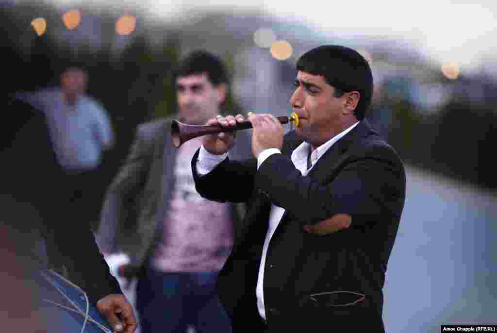 A Yazidi musician during the Sere Sal celebrations in Aknalich. Hopes that the village might become a new heartland for the Yazidi faith are unlikely to be realized anytime soon.