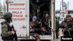 Сепаратисты в Донецке, март 2015 года