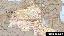 Территория расселения курдов.