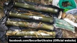 Взрывчатка и боеприпасы, найденные в Киеве