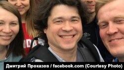 დმიტრი პროკაზოვი ოპოზიციის დემონსტრაციაზე მოსკოვში, 14 ივლისს