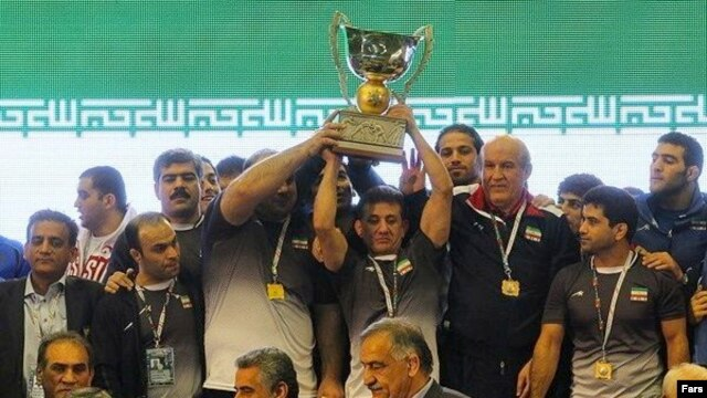Iranian wrestlers won the World Cup, which Iran hosted just a week ago.