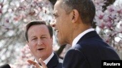 АҚШ президенті Барак Обама мен Ұлыбритания премьер-министрі Дэвид Кэмерон. Вашингтон, 14 наурыз 2012 жыл. (Көрнекі сурет)