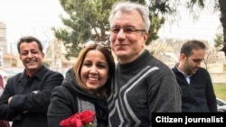 Prominent Iranian Baha'i leader Saeid Rezaie after his release from 10 years of imprisonment, charged with espionage.
