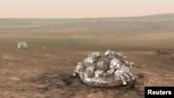 دستگاه کاوشگر ادارۀ تحقیقات فضایی اروپا در سیارۀ مریخ