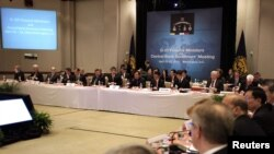 A view of the G20 meeting of finance ministers and central-bank governors during the spring IMF-World Bank meeting in Washington,