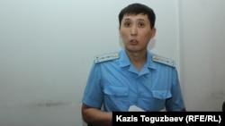 Прокурор Максат Даурбаев на судебном заседании. Алматы, 4 июня 2019 года.