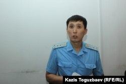 Prokuror Maksat Daurbaýew sud maslahatynda. Almaty, 4-nji iýun 2019.